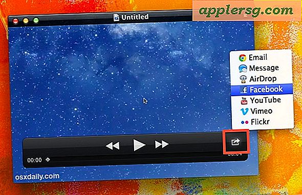 Del videoer til FaceBook, YouTube, og Vimeo fra QuickTime Player i Mac OS X