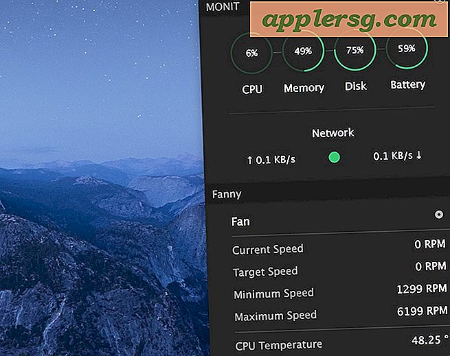 Overvåk systemstatistikk, CPU Temp, Fan Speed ​​i Mac Notification Center