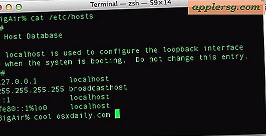 Messed Up Hosts?  Sådan gendannes den oprindelige standard / etc / hosts-fil i Mac OS X