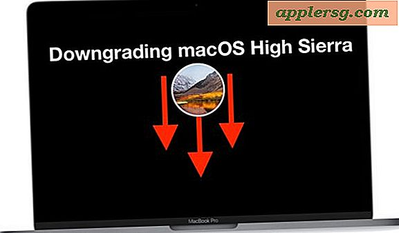 Comment dégrader macOS High Sierra