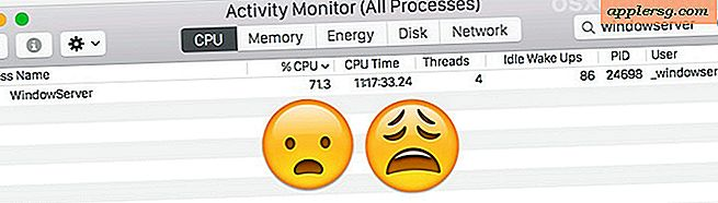 Tame High WindowServer CPU Brug på en Mac med OS X Yosemite