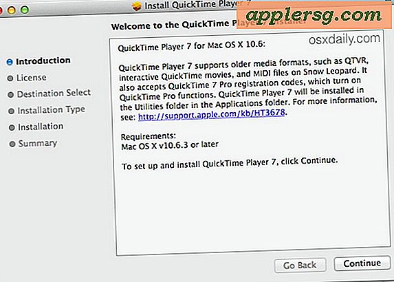 Voer QuickTime Player 7 uit in Mac OS X Sierra, El Capitan, Yosemite
