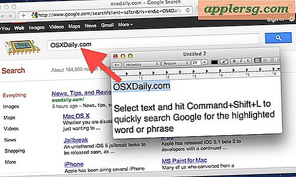 Cari Web dari Mac OS X Finder, TextEdit, dan Preview