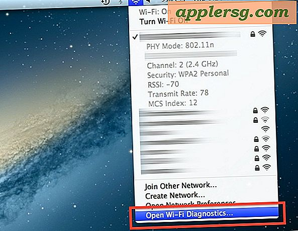 Snel toegang tot Wi-Fi Diagnostics Tool in Mac OS X