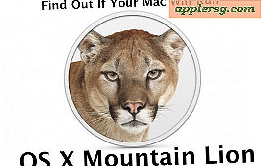Vil din Mac køre OS X Mountain Lion?  Mountain Lion Compatible Macs List