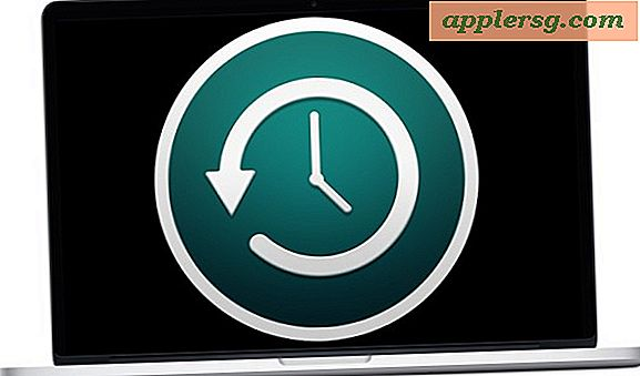 Så här ställer du in Time Machine Backups i Mac OS X