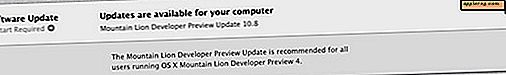 Update naar OS X Mountain Lion Developer Preview 4 uitgebracht voor Devs