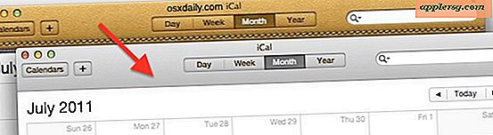 Skift iCal Leather Interface Tilbage til Aluminium i OS X Lion