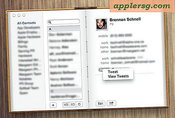 Se kontakter Tweets og @Reply Direkte fra Contacts App i OS X