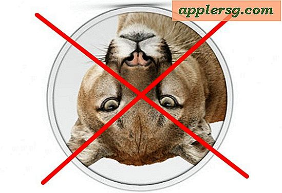Så här tar du bort OS X Mountain Lion (eller någon annan Mac OS X Boot Partition)