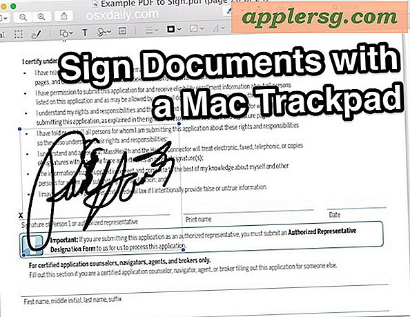 Come firmare documenti con Mac Trackpad Usare l'anteprima per Mac OS X