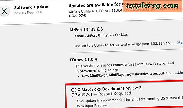 OS X Mavericks Developer Preview 2 Udgivet til udvikler download