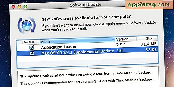 OS X 10.7.3 Supplerende opdatering løser problemer med Time Machine Backups
