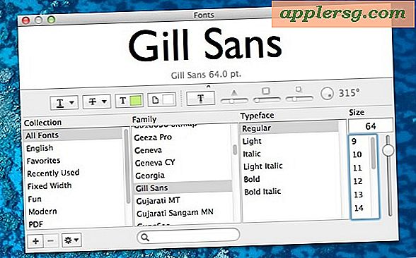Se Mac Fonts direkte fra OS X Fonts Panel