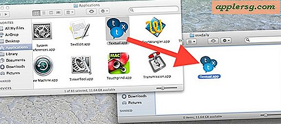 Verplaats Apps uit de map Programma's in OS X.