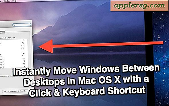 Verplaats Windows tussen desktops in Mac OS X met een Click & Keyboard-snelkoppeling