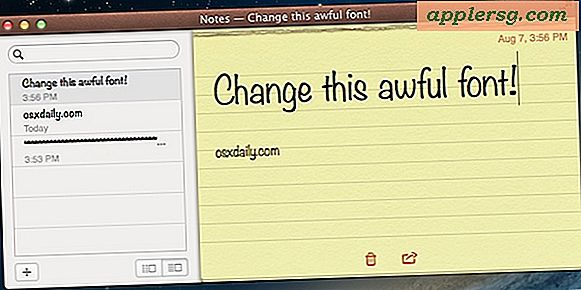Verander de standaard Font of Notes-app in Mac OS X