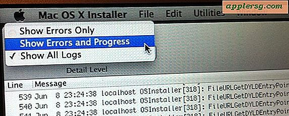 Overvåg Progress, Fejl, og Se alle aktiviteter under en Mac OS X Installer