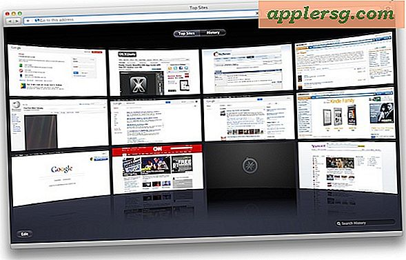 "Deaktiver ""Top Sites"" i Safari til Mac OS X"