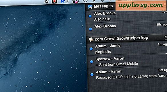 Send Growl Notifications til Notification Center i OS X 10.8 med Hiss