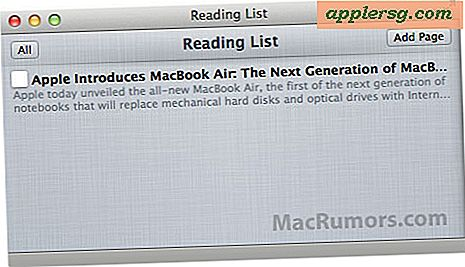"Safari ""Reading List"" Feature i Mac OS X Lion Lader dig læse websider senere"