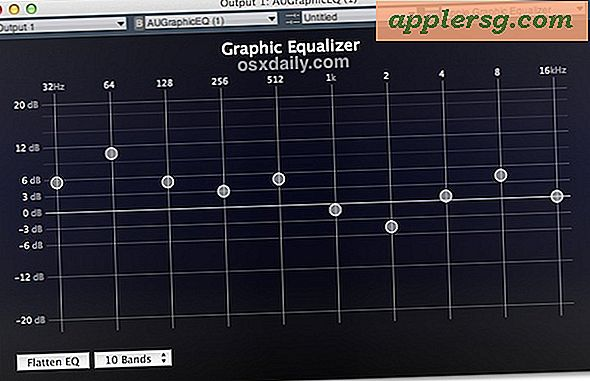 Opprett en equalizer for all lyd i Mac OS X