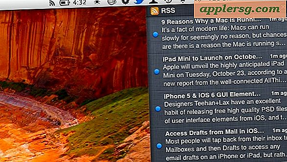 Få RSS-feeds i OS X Notification Center med RSS.app
