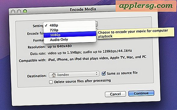 Mac OS X 10.7 Lion indeholder en Video & Media Encoder i Finder