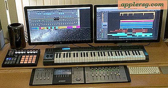 Mac Setup: Dual Thunderbolt Display Mac Pro Desk fra en musikproducer