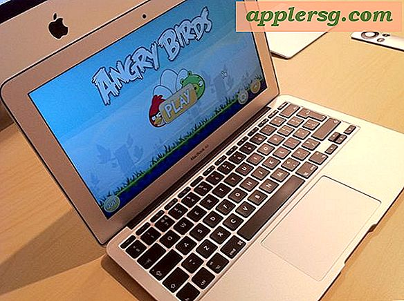"Mac setups: MacBook Air 11 ""tijd verspillen met Angry Birds"