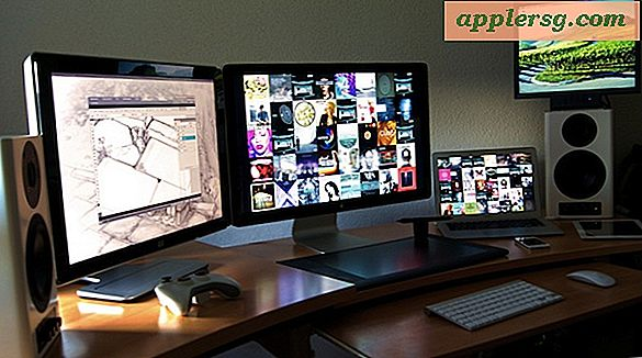 Mac setups: drie schermen & MacBook Air