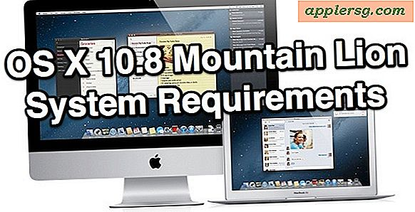 OS X 10.8 Mountain Lion: la configuration du système requise