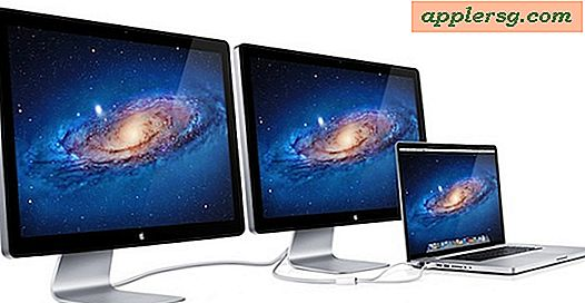 Thunderbolt MacBook Pro understøtter Dual External Displays af Daisy Chain