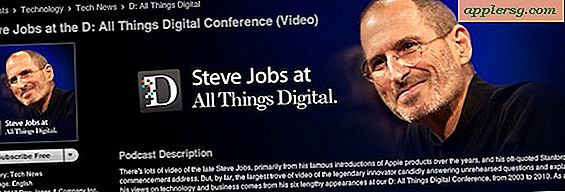 Bekijk alle 6 jaar Steve Jobs-interviewvideo's van AllThingsDigital-conferenties