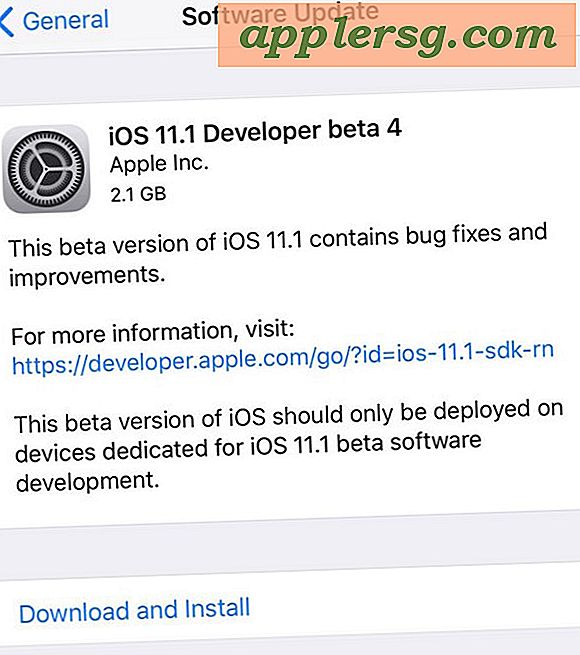 iOS 11.1 Beta 4 utgitt for testing