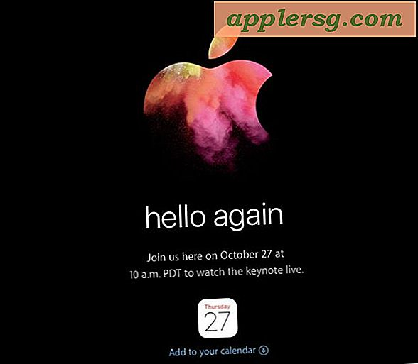 """Hello Again"" Apple Event Set til 27. oktober forventes nye Mac'er"