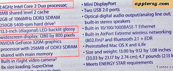 Penyegaran MacBook bocor dari Vietnam: 2.4GHz Core 2 Duo, 2GB / 250GB, 320m GPU