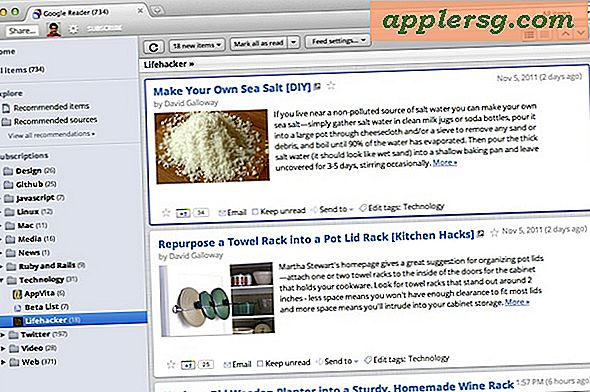 Reskin Google Reader met een Mac OS X Lion-thema