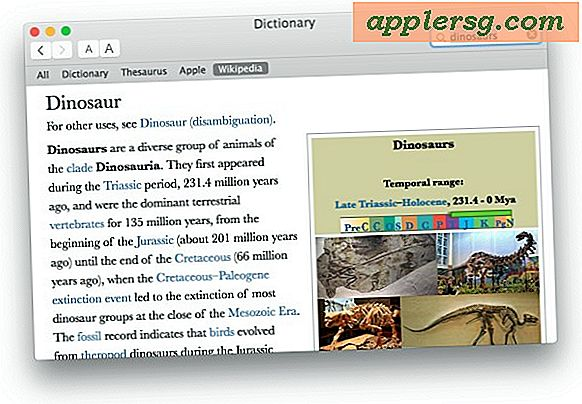 Krijg toegang tot Wikipedia via Spotlight in Mac OS X.